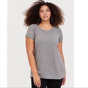 TORRID Heather Gray Embellished Sweatshirt 4